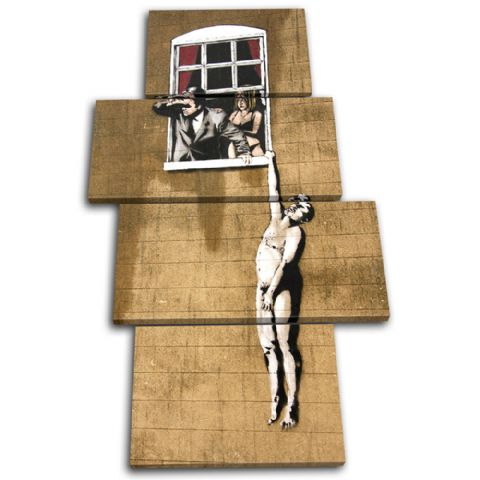 Window Lovers Banksy Street - 13-1188(00B)-MP04-PO